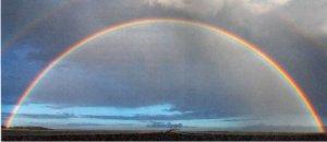 Чем объясняется изогнутая форма радуги?